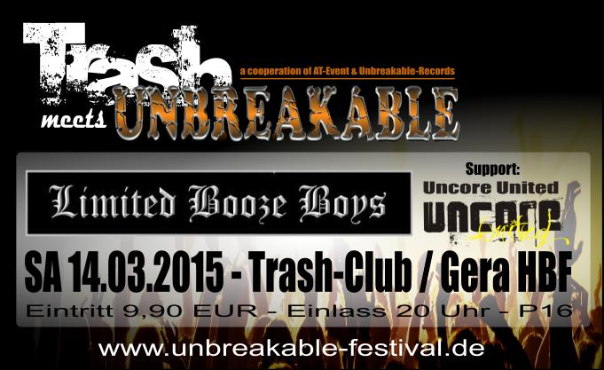 """Limited Booze Boys"" – 14.03.2015 – live im Trash"
